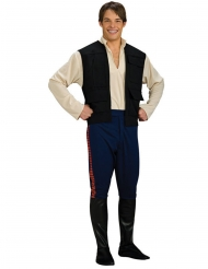 Star Wars™-Han Solo Herrenkostüm Deluxe schwarz-blau-rot