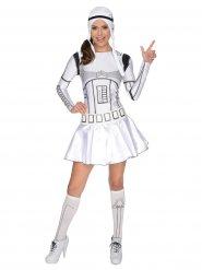 Stormtrooper™-Damenkostüm Lizenz Star Wars™ weiss-schwarz