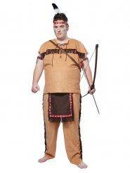 Indianer-Kostüm Plus Size für Herren beige-braun