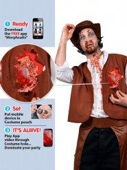 Zombie Cowboy Kostüm animiert Morphsuits™