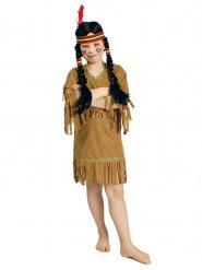 Indianer-Kinderkostüm mit Fransen braun