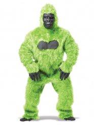 Gorilla - Kostüm schwarz grün für Erwachsene