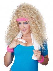 Blonde 80er Perücke mit Stirnband