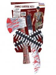 Blutiges Zombie-Set Waffen Halloween Zubehör 6-teilig