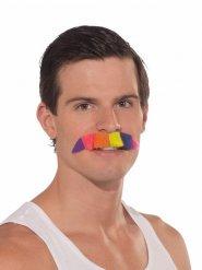 CSD-Schnurrbart Accessoire bunt