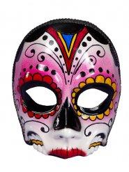 Tag der Toten-Schädelmaske für Damen Halloweenmaske bunt