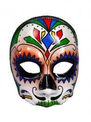 Tag der Toten Maske Kostümzubehör bunt