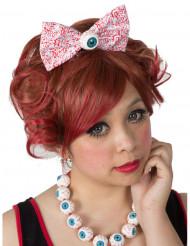 Gothic-Haarreif mit Fliege und Auge Damen-Accessoire bunt 14 cm