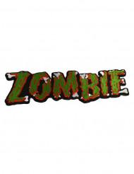 Zombie-Gothic Aufnäher Halloween grün-rot