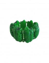 Gehirn-Armband Zombie-Accessoire für Erwachsene grün 8 cm