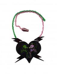 Gothic-Halskette Seepferdchen Kreepsville schwarz-grün-rosa