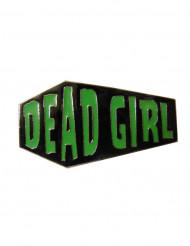 Gothic-Ring Kreepsville Sarg Dead Girl schwarz-grün 6,5 cm