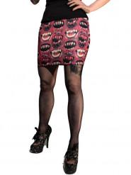 Monster-Minirock für Damen rot-weiss-schwarz