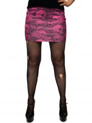 Totenkopf-Minirock Accessoire pink-schwarz