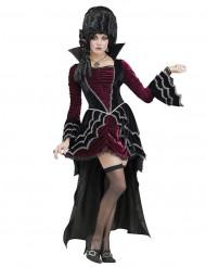 Viktorianische Vampirbraut Halloween-Damenkostüm rot-schwarz
