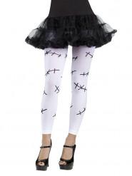 Monster-Leggings Halloween Kostüm-Accessoire weiss-schwarz