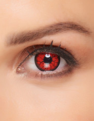 Monster-Kontaktlinsen rot-schwarz