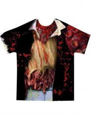 Zombie-Shirt Kostümzubehör für Erwachsene schwarz-bunt