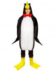 Pinguin Unisex-Kostüm für Damen und Herren schwarz-weiss-gelb