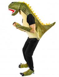 Wilder Dinosaurier Unisex-Kostüm für Erwachsene weiss-grün