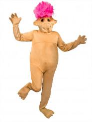 Witziges Troll Kostüm für Erwachsene beige-pink