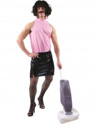 Perfekte Hausfrau Kostüm für Erwachsene Männerballett 80er Jahre schwarz-rosa