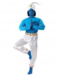 Flaschengeist Filmstar-Kostüm für Herren orientalisch blau-weiss