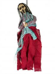 Leuchtende Damen Skelettdeko Halloween 40 cm