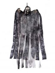 Deko-Skelett Halloweenfigur schwarz-grau