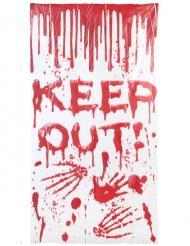 Keep Out Halloween Türposter 150 x 78 cm blutig