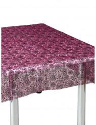 Tischdecke Spinnennetz rosa und schwarz 147x147cm Halloween