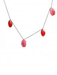 Girlande Herz und Gehirn 150x9cm Halloween