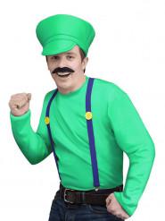Grünes Videospiel Klempner Kostüm für Herren