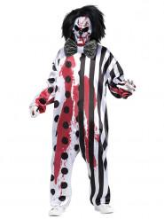 Blutiges Clown-Kostüm Herren Halloween