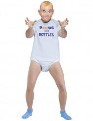 Riesen Babykostüm für Herren Boobs over Bottles weiss-blau