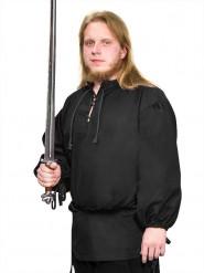 Mittelalter Bluse für Herren schwarz