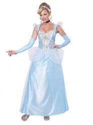Feenhaftes Prinzessinnen-Kleid für Damen blau-weiss