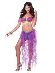 Sexy Bauchtänzerinnen Kostüm für Damen Orient lila