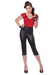 Sexy 50er-Jahre Rockabilly-Kostüm für Damen schwarz-rot