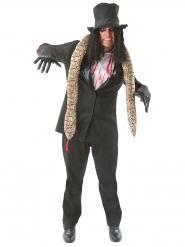 Rocker-Halloween Kostüm schwarz-weiss