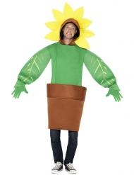 Sonnenblumen Kostüm im Topf Erwachsene