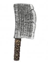 Gefährliches Hackbeil Kostümzubehör Axt silber-gold 39cm
