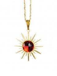 Edle Vampir-Halskette Halloween Kostümzubehör gold-rot