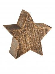 Holzstern-Weihnachtsdeko X-Mas braun 10x9x4cm