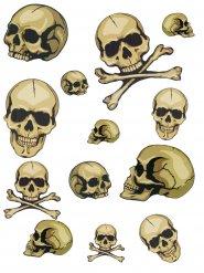 Aufkleberset Halloween Schädel
