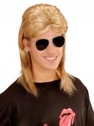 80er-Jahre Perücke und Sonnenbrille Zubehör blond