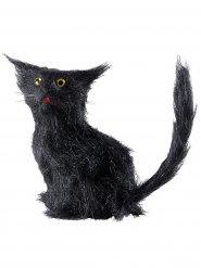 Schwarze Katze 12 cm Halloween