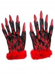 Handschuhe sexy Teufel Damen Halloween