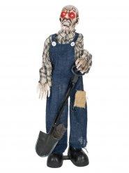 Totengräber Zombie-Figur Halloween blau-grau 75cm