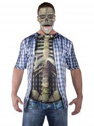 Verkleidung T-Shirt Skelett bunt